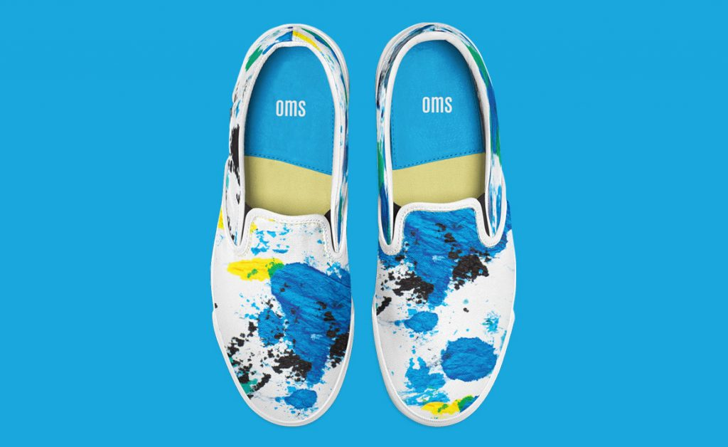 Shoes with Blue pattern
